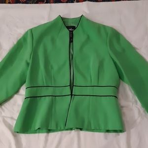 Positive Attitude Green Fitted Blazer Jacket